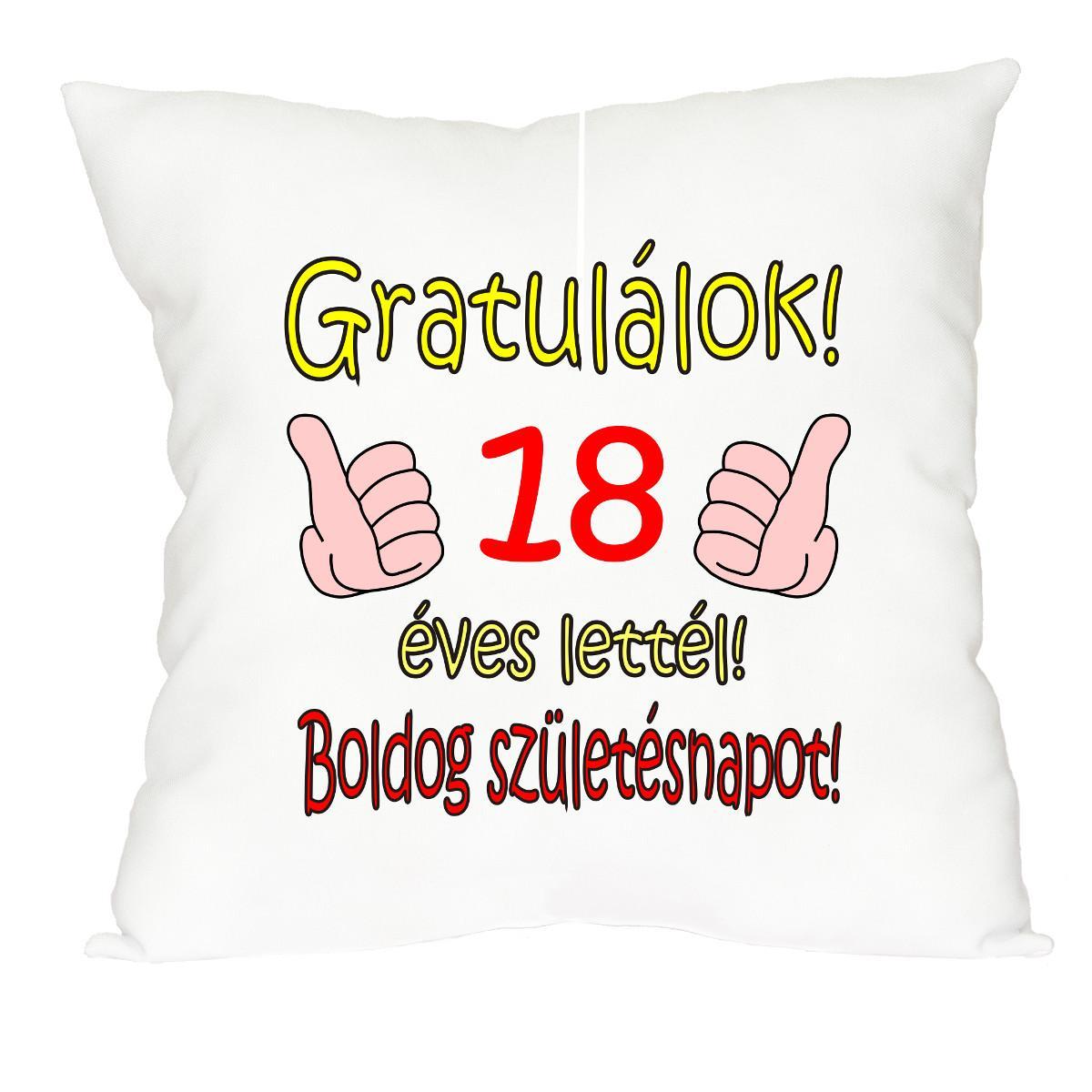 születésnapi ajándék 18 éves fiúnak Vicces Párna Gratulálok 18 éves lettél Vicces ajándékok mindenkinek! születésnapi ajándék 18 éves fiúnak