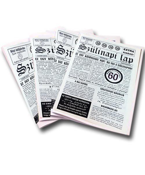 60 éves szülinapi újság