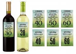 60 éves szülinapi üveg címke, Jó alkalmak- 2 db-os 3.Kép